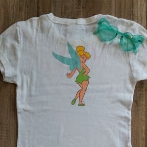 90s Vintage Tinkerbell Graphic Baby Tee